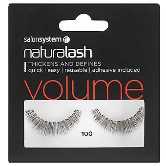 Salon System  Naturalash - Volume - No 100 Reusable Eyelashes - (adhesive Included)