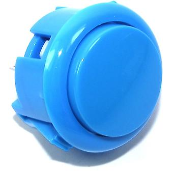 30mm Blue Arcade Button - 2 pin