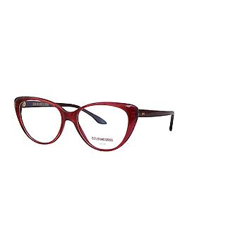 Cutler and Gross 1370 04 Red Mini Glasses