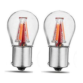 2PCS Upgraded 1157 BAY15D 21/5W Red 4 Filament COB LED Stop Brake Lights Bulb