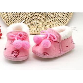 Söpö liukumaton vauvansänky kengät, talvi lämmin vauvan tossut lumisaappaat