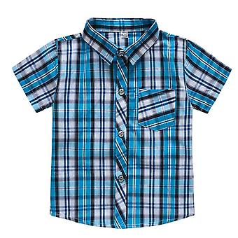 Classic Plaid Shirts, Short Sleeve Kids School Clothes/children Clothing