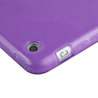 Gladde Surface TPU-beschermhoes voor iPad Air (Donker paars)
