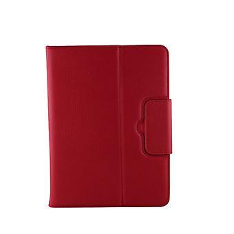 Galaxy Tab 4 10.1 / T530 Separable Litchi Texture Horizontal Flip Leather Case + Bluetooth-näppäimistö pidikkeellä &; Selfie-toiminto (punainen)