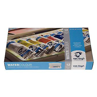 Royal talens van gogh watercolour 12 tubes plastic pocket box-