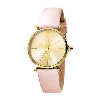 Just Cavalli Women's Armonia Champagne Dial Calfskin Leather Watch