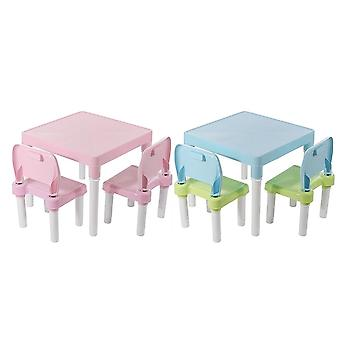 Folding Table & Chairs Set, Gaming Learning Tables Desk