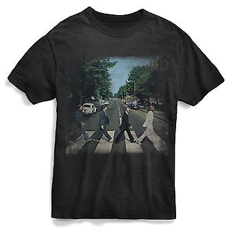 The beatles abbey rd distressed - t-shirt noir homme
