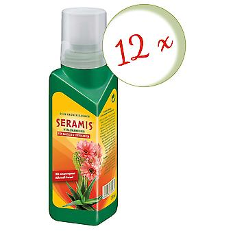 Sparset: 12 x SERAMIS® vital food for cacti and succulents, 200 ml