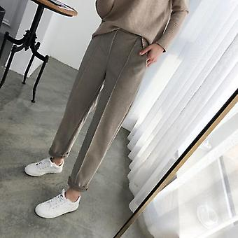 Women Pencil Spring Winter  Ol Style Wool Female Work Suit Pant