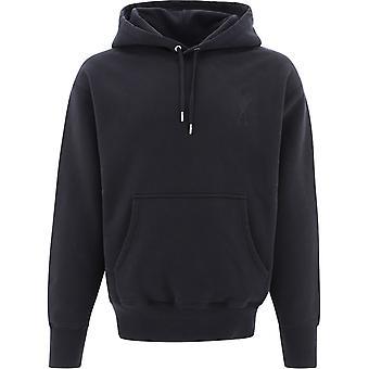 Ami E21hj058747001 Men's Black Cotton Sweatshirt
