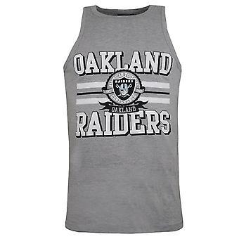 NFL Team Apparel Oakland Raiders Tank Top Grey Mens A10RA4158GRY07X