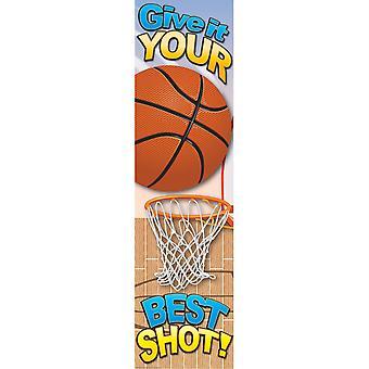 Basketball Motivational Banner, 4'