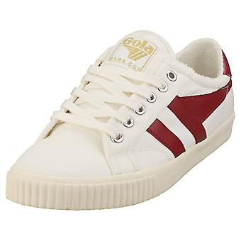 Gola Tennis Mark Cox Womens Casual Utbildare i Off White Red
