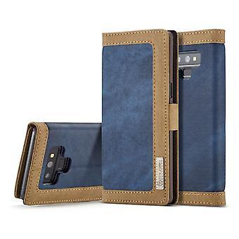 Samsung Galaxy Note 8 Multi-Funktions Flip Case Cover - Blau