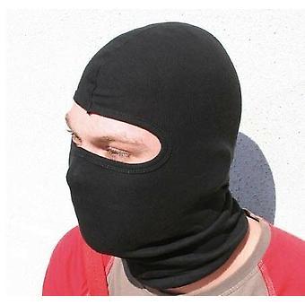 Motorsykkel under hjelm Balaclava ansiktsmaske hals varmere svart bomull