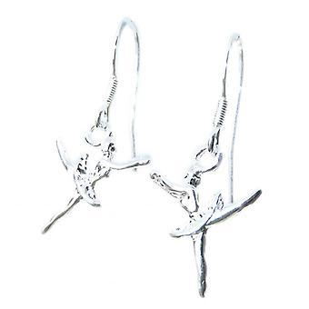 ballerina liten sterling sølv krok øredobber .925 X 1 par