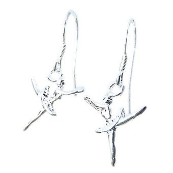 Ballerina Kleine Sterling Silver Hook Oorbellen .925 X 1 Paar