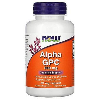 Nu Livsmedel, Alpha GPC, 300 mg, 60 Veg Kapslar