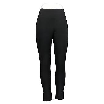 Susan Graver Leggings Weekend Regular Nylon Brushed Back Knit Black A384271