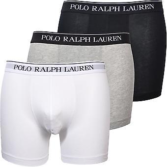 Polo Ralph Lauren 3-Pack Classic Boxer Slips, Schwarz/Weiß/Grau