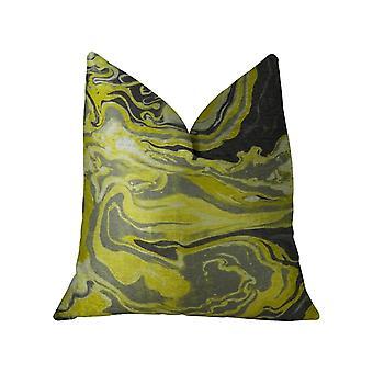 "Plutus Medici Marble Ink Handmade Throw Pillow, (Doppio lato 20"" X 36"" King)"