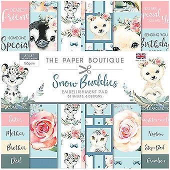 The Paper Boutique - Snow Buddies Collection - 8x8 Embellishments Pad