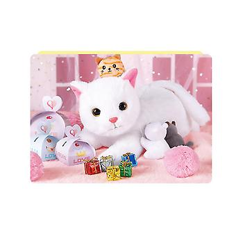 Stuffed Animal Interactive Cat Robot Toy, Robotic Cat Barking Meow Kitten Touch Control