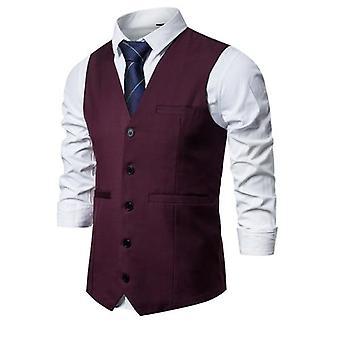 Westen Männer Anzug Smart Casual ärmellose Weste Vintage formale Blazer Weste
