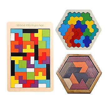 Wooden Tangram Jigsaw Brain Tetris