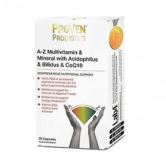 ProVen Probiotics A-Z Multivitamins; Acidophilus; Bifidus & CoQ-10 Caps 30 (PR08)