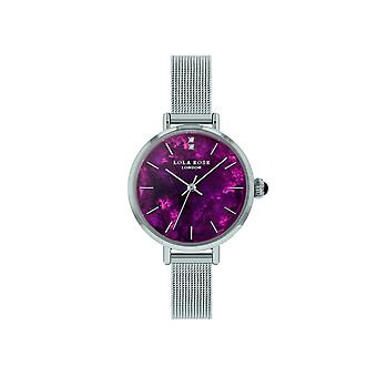 Lola Rose Lr4153 Violet Dial Stainless Steel Strap Watch For Women
