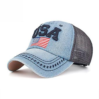 Usa Flag Denim Baseball Cap Embroidery Snapback Hats
