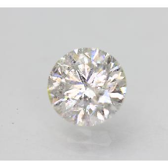 Sertifioitu 1,18 karat G SI2 pyöreä brilliant parannettu luonnollinen löysä timantti 6,59mm