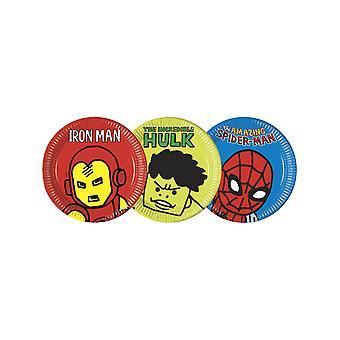 8 Assiettes en carton Avengers pop comic 23 cm