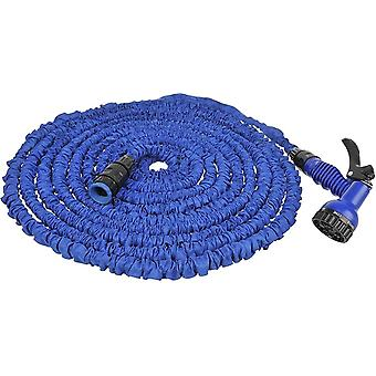 expandable hose 15 meters with nozzles blue