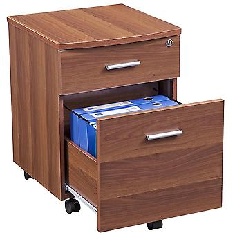Two Drawer A4 Suspension Filing Pedestal for Home Office - Piranha Blenny