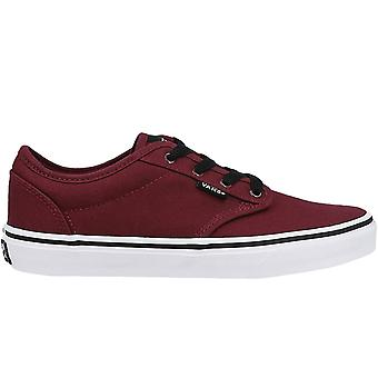 Vans Kids Doheny Canvas Low Rise Skater Trainers Sneakers Shoes - Oxblood