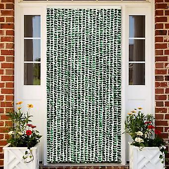vidaXL الحشرات طارد الستار الأخضر والأبيض 90x220 سم Chenille