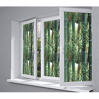 Pvc-Glas, Fensterfolie, Behandlungen Dekor, grüner Bambus