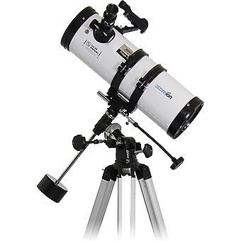 FengChun Philae 114/500 EQ Spiegelteleskop - Astronomisches Teleskop Set mit Stativ, Montierung und