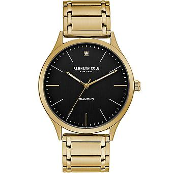 Kenneth Cole Kc51048005 Modern Classic Black & Gold Stainless Steel Mens Watch