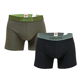 Men's Levis Blazing 2 Pack Boxer Shorts in Green
