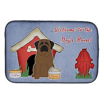 Caroline's Treasures Dog House Collection Bullmastiff Dish Drying Mat, 14 X 21