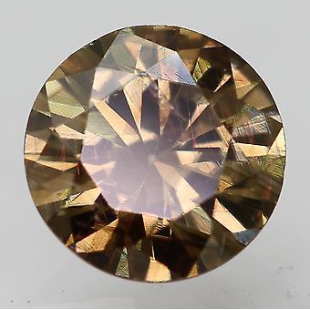 Cert 0.64 Carat Deep Brown VS1 Round Brilliant Enhanced Natural Diamond 5.61mm