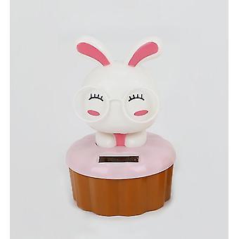 Beyaz tavşan karikatür güneş süs araba dekorasyon az764