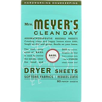 Rouva Meyers Clean Day Dryer Sheet Basil, kotelo 6 X 80 PC