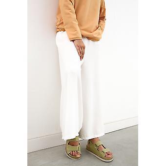 Comfy Pockets Elastic Waist Wide Leg Pants