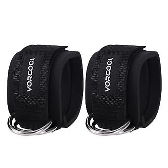 Ankle Strap Multi Gym Cable Attachment D-ring Leg Thigh Pulley For Workout