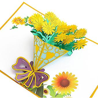 Mother's Day Greeting Card Lily Bouquet Stereo Greeting Card 3d Handmade
